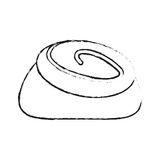 Pastry icon image. Cinnamon roll pastry icon image vector illustration design Royalty Free Stock Photography