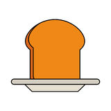 Pastry icon image. Slice of bread pastry icon image vector illustration design Royalty Free Stock Photography