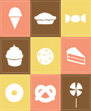 Pastry icons Royalty Free Stock Image