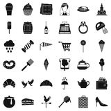 Pastry icons set, simple style. Pastry icons set. Simple set of 36 pastry vector icons for web isolated on white background Stock Photos