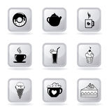 Pastry icons Stock Photography