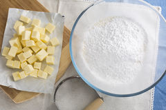 Pastry Ingredients Stock Images