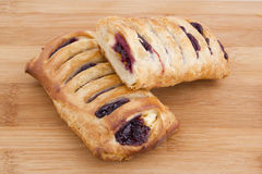Pastry with jam Stock Photos