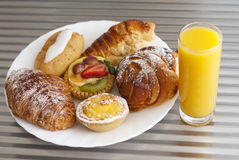 Pastry and juice Stock Image