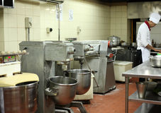 Pastry kitchen. With mixer machine Royalty Free Stock Photos
