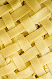Pastry Lattice Top of Apple Pie, close up Royalty Free Stock Photography