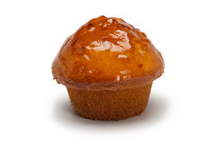 Pastry, Muffin. A muffin  against white background Royalty Free Stock Photo