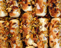 Pastry with nuts Royalty Free Stock Photos