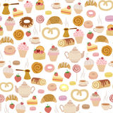 Pastry pattern Royalty Free Stock Images