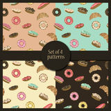 Pastry patterns set Stock Image