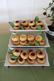 Pastry. A picture of pastries on a shelf Stock Image