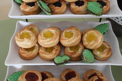 Pastry. A picture of pastries on a shelf Stock Photos