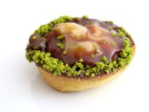 Pastry with pistachios and chocolate. Italian pastry with pistachios and chocolate Royalty Free Stock Photography