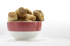 Pastry in the porcelain bowl Stock Images