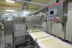 Pastry production line. royalty free stock images