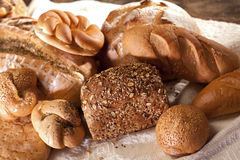 Pastry products and bread Royalty Free Stock Photography