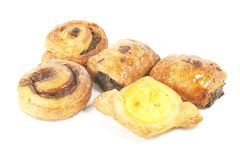 Pastry Puff Danishes Royalty Free Stock Photos