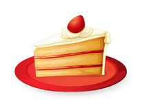 Pastry in red dish. Illustration of a pastry in red dish on white Stock Photos