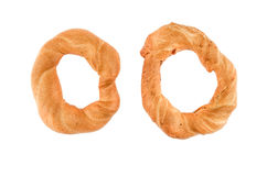 Pastry ring on a white background Royalty Free Stock Image
