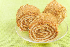 Pastry roll filled Royalty Free Stock Images
