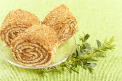 Pastry roll filled Stock Photo