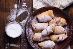 Pastry rolls Stock Photos
