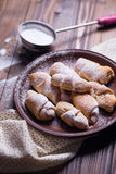 Pastry rolls Stock Images