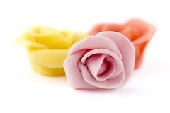 Pastry roses Stock Photography