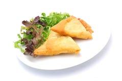 pastry samosa 免版税库存照片