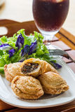 Pastry samosas Stock Photo