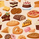 Pastry Seamless Pattern Royalty Free Stock Images