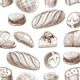 Pastry seamless pattern Royalty Free Stock Photography