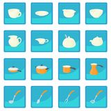 Pastry set icon blue app. For any design vector illustration Stock Photo
