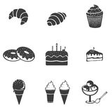 Pastry set icon Royalty Free Stock Images