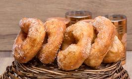Pastry sfenj marocain. Moroccan pancakes Sfinj Royalty Free Stock Images