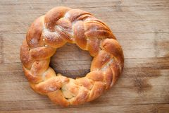 Pastry in the shape of a braid Stock Photos