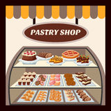 Pastry Shop Background Royalty Free Stock Photos