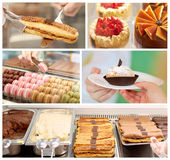 Pastry shop collage Royalty Free Stock Photo