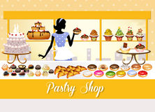 Pastry shop Stock Images