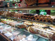 Pastry shop. Various cakes in a pastry shop in Rome Royalty Free Stock Photos