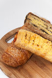 Pastry with spinach and corn flour Royalty Free Stock Image