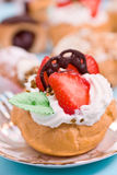 Pastry with strawberry Royalty Free Stock Photography