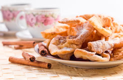 Pastry with sugar and cinnamon Royalty Free Stock Image