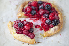 Pastry with summer berries Stock Photography