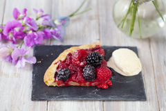 Pastry with summer berries Stock Images