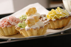 Pastry on table Royalty Free Stock Photos