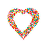Pastry topping heart shaped square Royalty Free Stock Photos