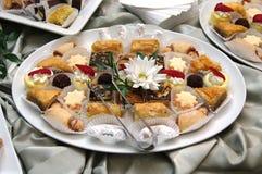 Pastry tray royalty free stock photos