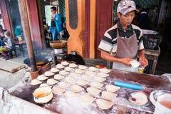 Pastry vendor, Myanmar Royalty Free Stock Photo