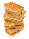 Pastry Viennese wafers. Isolated on white background Royalty Free Stock Photos